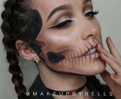 Halloween Inspo, Halloween Looks, Halloween Cosplay, Baby Halloween, Halloween Face Makeup, Fx Makeup, Hair Makeup, Dead Beautiful, Cool Face