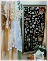 Old lace & vintage buttons