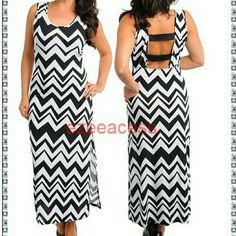 "Brand new plus size chevron long maxi dress sexy Look stunning in this Gorgeous sexy chevron /zig zag maxi summer sun dress.  ***Lightweight summer stretchy fabric .  Trendy Chevron /zigzag pattern backless style with (elastic) strap back 19-20"" Slit at one side . versatile use them as formal/causal wear/club wear or simply a summer/sun/beach dress.  KINDLY CHECK MEASUREMENTS before picking your size to ensure the right fit .Thanks  Total Length:53"" -----------------SLIT :19-20"" (IS JUST At…"