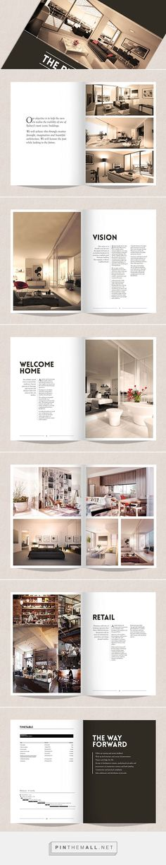 Design of Property Development Brochure on Behance - created via http://pinthemall.net