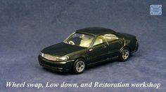 TOMICA 032F NISSAN GLORIA Y34 #WHEELSWAP #LOWDOWN | v.27 | 5 SPOKES Old Models, Diecast, Nissan, Auction, Car, Automobile, Autos, Cars