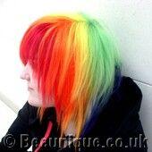 Rainbow Hair Dye Photos Wild hair styles for punk girls crazy gothic hair styles beautiful goth girls crazy hair Gothic Hairstyles, Unique Hairstyles, Rainbow Dyed Hair, I Like Your Hair, Wacky Hair, Haircut And Color, Bright Hair, Wild Hair, Crazy Hair