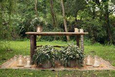 Altar Ceremonia Civil finca bodas a quinta da auga