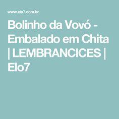Bolinho da Vovó - Embalado em Chita | LEMBRANCICES | Elo7