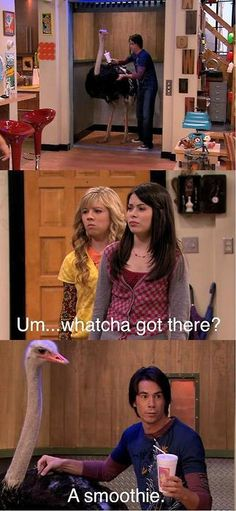 Hahaha I love icarly. I want you to know that my phone auto corrected that to ovary.