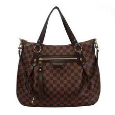 Louis Vuitton Damier Ebene Canvas Evora MM N41131--my favorite purse so functional
