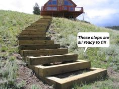 How to build steps up a hill