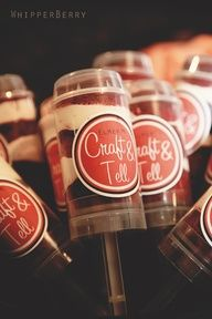 Cake push pops- neat idea so a cake isnt sitting outside in the open all night!