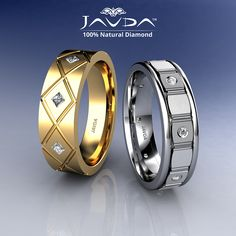 Princess & round diamond bezel set men's brushed finish eternity wedding band crafted in gold. Other metal option are available like white gold, yellow gold, rose gold and platinum. Ring made in USA. Mens Designer Wedding Rings, Wedding Men, Wedding Bands, Gents Gold Ring, Mens Ring Designs, Engagement Rings Couple, Mens Sterling Silver Necklace, Platinum Ring, Luxury Jewelry