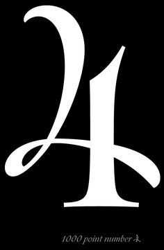 I am celebrating the number 4 today as it signifies how much weight I… Typography Letters, Cool Typography, Typography Design, Logo Design, Graphic Design, Design Art, Type Design, Cool Numbers, Letters And Numbers