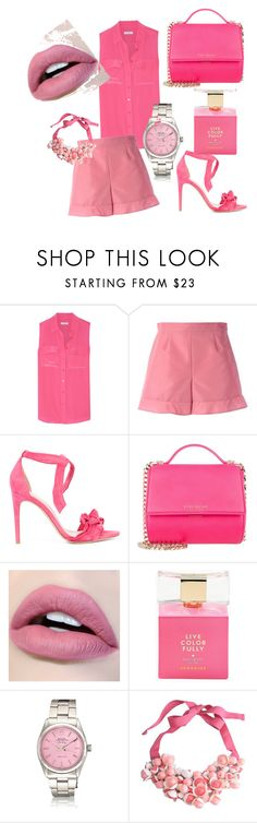 """PinkGirl"" by larisa-pascotescu ❤ liked on Polyvore featuring Equipment, RED Valentino, Alexandre Birman, Givenchy, Kate Spade and P.A.R.O.S.H."