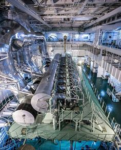 85,705 horsepowers diesel engine and it is three stories deep. My 17mm lens on a full frame body has a hard time capturing it all.  by @tdangphoto http://ift.tt/2ktmDi4