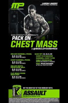 Chest Workout   Posted By: NewHowToLoseBellyFat.com Muscle Fitness, Fitness Tips, Muscle Food, Fitness Gear, Health Fitness, Training Programs, Workout Programs, Gym Programs, Musclepharm Workouts