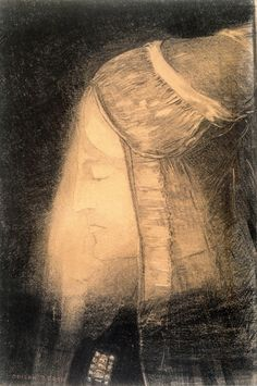 Odilon Redon The Fairy (also known as Profile of Light) ca. 1881