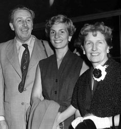 Walt, Diane and Lilly in 1949 during a cruise to Europe