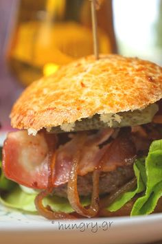 Kitchen Stories: Caramelized Onion-Bacon Beef Burgers