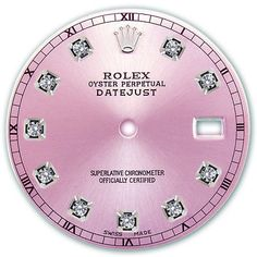 Other Watch Parts 10324: Rolex Mens Datejust Stainless Steel Metallic Pink Color Diamond Dial Rt -> BUY IT NOW ONLY: $150 on #eBay #other #watch #parts #rolex #datejust #stainless #steel #metallic #color #diamond