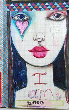 Suzi Blu Unmounted Gypsy Face Rubber Stamp by Unity by SuziBlu