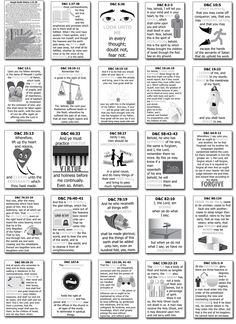 Doctrine Covenants Scripture Mastery Classroom Charts — Latter-Day Villagers