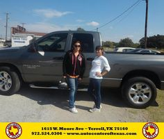 https://flic.kr/p/zJeyN3 | Happy Anniversary to Cheryl on your #Dodge #Ram 1500 from David Herrera at Auto Center of Texas! | deliverymaxx.com/DealerReviews.aspx?DealerCode=QZQH