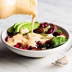 This healthy homemade Apple Cider Vinaigrette recipe is the perfect dressing for any salad! It's easy to make (ready in less than 5 minutes), is super flavorful, and has none of the processed ingredients that are found in store-bought salad dressings! Healthy Salad Recipes, Healthy Snacks, Salad Dressing Recipes, Homemade Healthy Salad Dressing, Homemade Salad Dressings, Vinagrette Dressing Recipe, Salmon Salad Dressing, Easy Dressing Recipe, Homemade Dressing