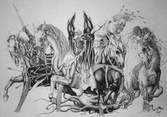 apocalypse horse tattoo | The Four Horsemen Tattoo Picture By And Roo8907 Photobucket