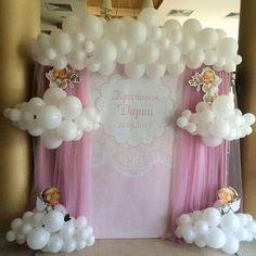 Irina Ungarova - New Deko Sites Baptism Decorations, Balloon Decorations, Birthday Party Decorations, Baby Shower Decorations, Birthday Parties, Baby Shower Balloons, Birthday Balloons, Baby Shower Themes, Shower Bebe