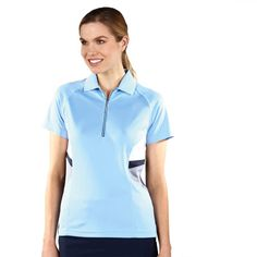 Pastel Blue Monterey Club Ladies Golf Shirt at #LorisGolfShoppe