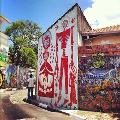 Street Art in #SaoPaulo Brazil. #100cities | Knok
