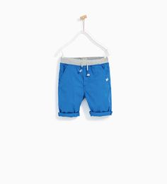 POPLIN BERMUDA SHORTS WITH ELASTICATED WAISTBAND - Available in more colours