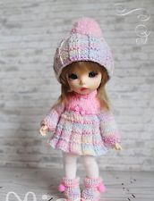 Lati yellow bjd fairyland pukifee: seulement l'outfit hiver rose (no doll!)