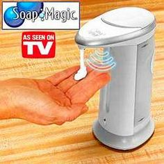 Photo of Soap Magic for fans of As Seen on TV Products 23328173 Hand Sanitizer Dispenser, Soap Dispensers, Automatic Soap Dispenser, See On Tv, Magic, Design, Chennai, Workplace, Discovery