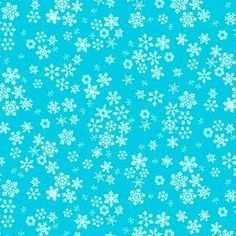 Turquoise with white snowflakes cotton fabric 1585-T
