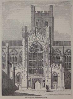 Image result for interior bath abbey illustration 1800