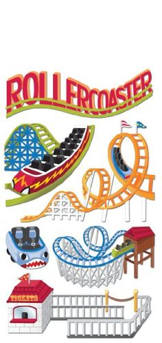 Rollercoaster sticker