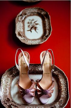 Louboutin plus fine china. La Vie Photography.