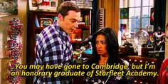 """You may have gone to Cambridge, but I'm an honorary graduate of Starfleet Academy."""