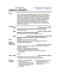 sample resume for graduate school application | Best Resumes ...