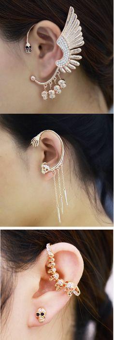 Shop statement skull earrings at RebelsMarket!