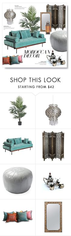 """""""Moraccan goods..."""" by modgirl71 ❤ liked on Polyvore featuring interior, interiors, interior design, home, home decor, interior decorating, Nearly Natural, Serena & Lily and moroccandecor"""