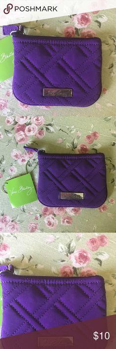 Vera Bradley coin purse! Soft quilted leather ! Purple ! New 💞 Vera Bradley Accessories
