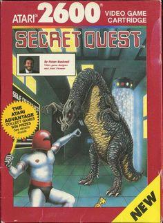 """Juego para la consola Atari 2600  """" SECRET QUEST """"  ( CX 26170 )"""