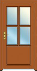 Vstupní dveře plastové, dřevěné, hliníkové řady Standard