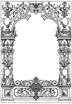 Border Typographical Frame