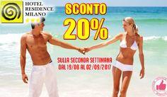 Hotel Residence Milano | SCONTO 20% Sulla Seconda Settimana http://affariok.blogspot.it/