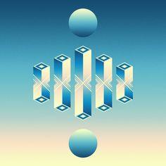 Two moons. 20140119 / Brock Lefferts / Sacred Geometry <3