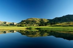 The Clarens Golf Estate in the Free State, South Africa. Famous Golf Courses, Public Golf Courses, Coeur D Alene Resort, Golf Course Reviews, Golf Estate, Free State, Where To Go, The Great Outdoors, South Africa