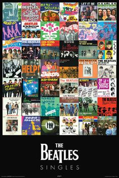 The Beatles SINGLES COLLECTION Poster (42 Covers)