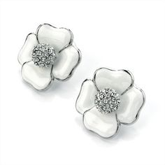 Minerva Collection Flower Pierced Fashion Earrings White & Silver by Minerva Collection, http://www.amazon.co.uk/dp/B009DCYYPI/ref=cm_sw_r_pi_dp_SOKUqb0R2ZR6T