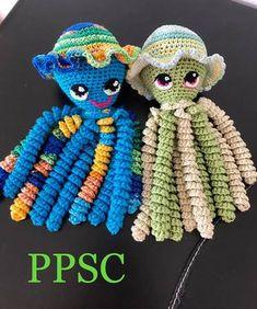MODELES CROCHET ET TRICOT - Petite Pieuvre Sensation Cocon Crochet Crafts, Crochet Toys, Free Crochet, Knit Crochet, Amigurumi Patterns, Crochet Patterns, Preemie Octopus, Octopus Crochet Pattern, Cute Octopus